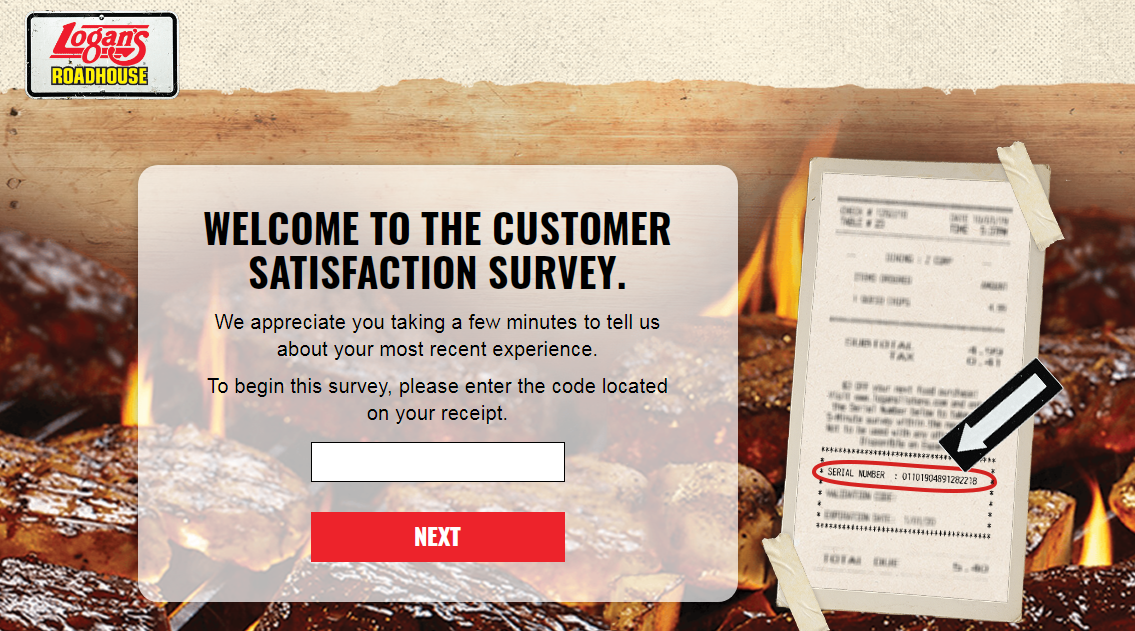 Complete Logan's Roadhouse Guest Satisfaction Survey