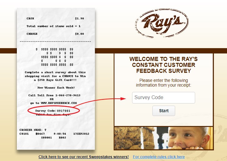 Ray's Constant Customer Feedback Survey