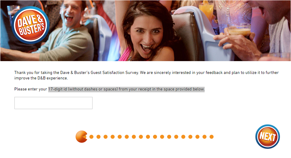 Dave and Buster's Customer  Satisfaction Survey